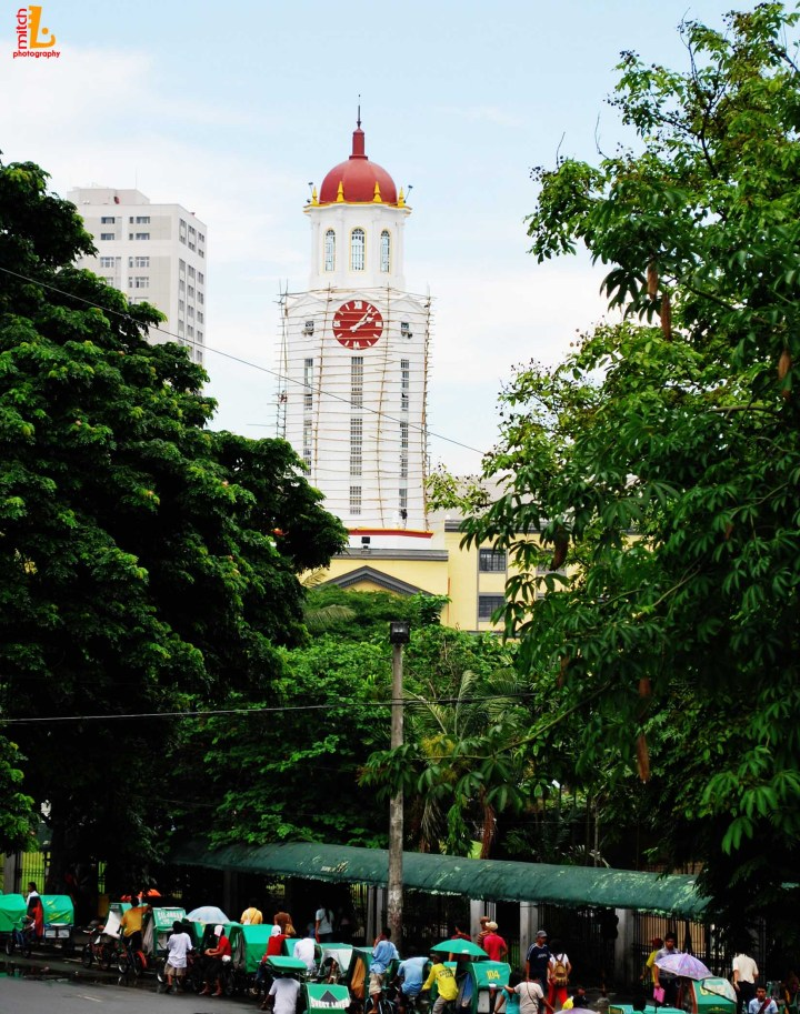 The famous Manila's grand tower clock, magnificent view while walking along the walls.