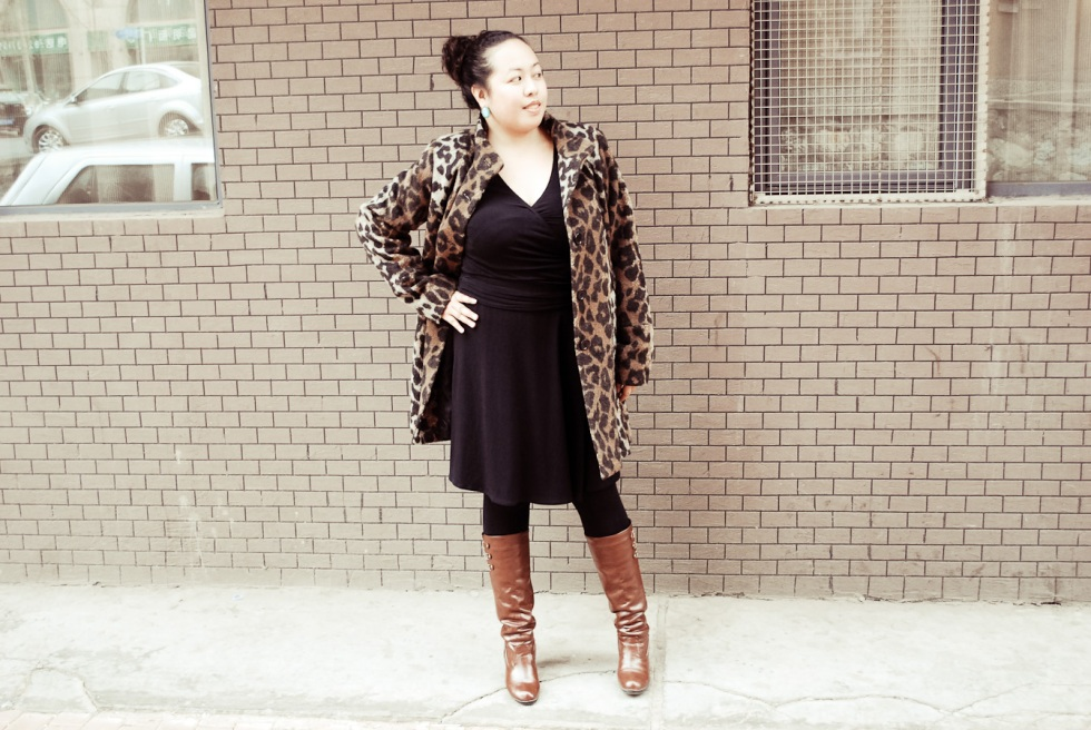 Leopard Coat + LBD